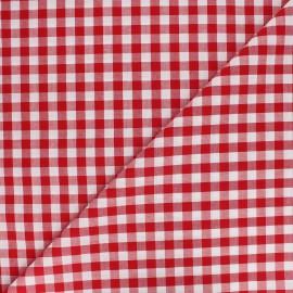 Big checked Vichy fabric - red x 10cm