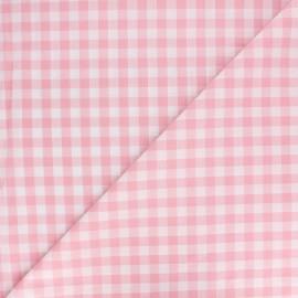 Tissu Vichy grands carreaux rose x 10cm