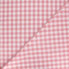 Tissu Vichy grands carreaux - rose dragée x 10cm
