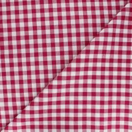 Big checked Vichy fabric - dark red x 10cm
