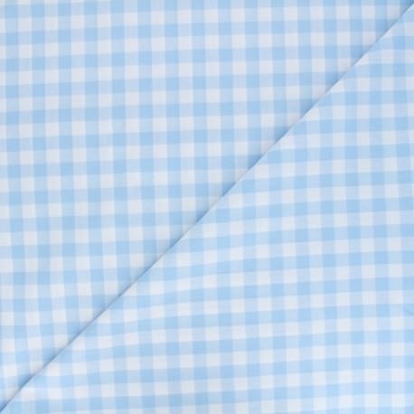 Big checked Vichy fabric - sky x 10cm