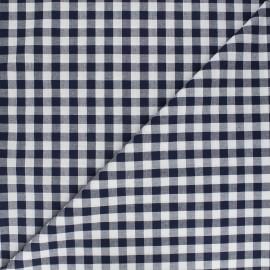 Tissu Vichy grands carreaux marine x 10cm