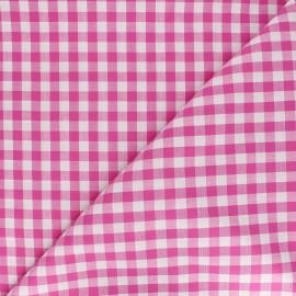 Tissu Vichy grands carreaux fuchsia x 10cm