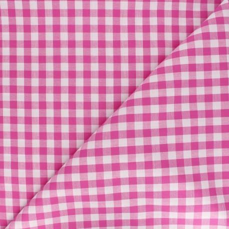 Big checked Vichy fabric - fuchsia x 10cm
