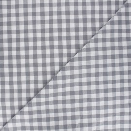Big checked Vichy fabric - grey x 10cm