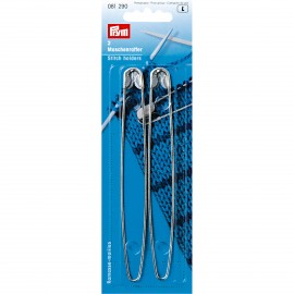 Stitch holders 13 cm (pack of 2) - silver