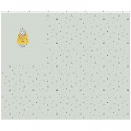 Panel french terry fabric - Adventure Seekers x 125 cm
