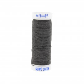 fil elastique gris fonce