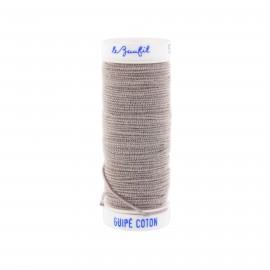 fil elastique gris clair