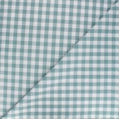 Big checked Vichy fabric - lichen green x 10cm