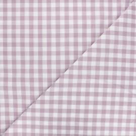 Big checked Vichy fabric - purple anchor x 10cm