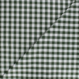 Large checked gingham fabric - pine green x 10cm