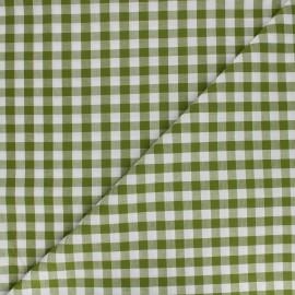 Tissu Vichy grands carreaux olive x 10cm