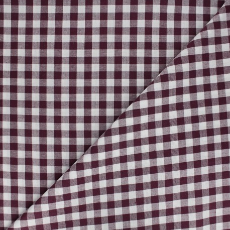 Large checked gingham fabric - baby pink x 10cm
