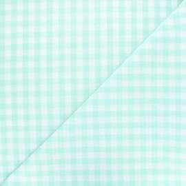 Tissu Vichy grands carreaux vert d'eau x 10cm