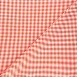 Tissu Vichy petits carreaux orange x 10cm