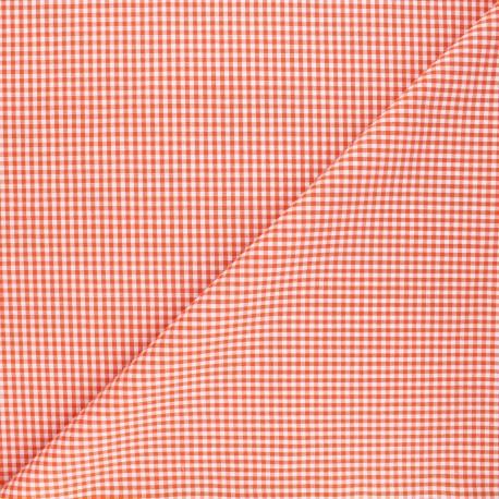 Fabric Vichy petits carreaux orange x 10cm