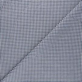 Small checked Vichy fabric - navy x 10cm