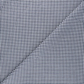 Tissu Vichy petits carreaux marine x 10cm