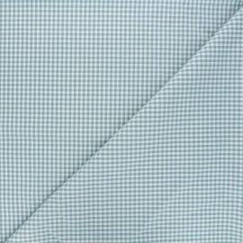 Small checked Vichy fabric - lichen green x 10cm