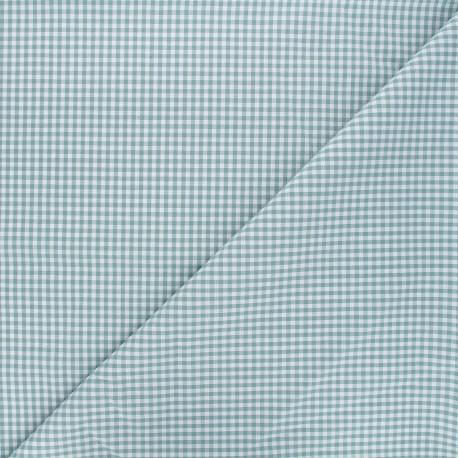 Tissu Vichy petits carreaux - vert lichen x 10cm