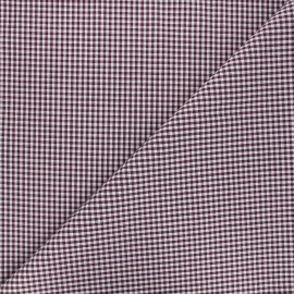 Small checked gingham fabric - purple x 10cm