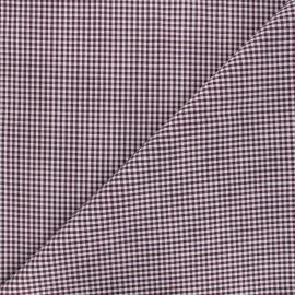 Tissu Vichy petits carreaux - violet x 10cm