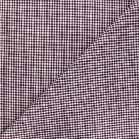 Tissu Vichy petits carreaux - jaune moutarde x 10cm