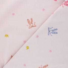 Jersey fabric - pink Ballerinas shoes x 10cm