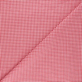 Small checked Vichy fabric - red x 10cm
