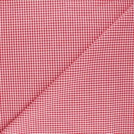 Tissu Vichy petits carreaux rouge x 10cm