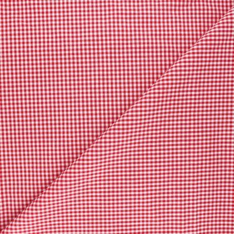 Vichy petits carreaux rouge