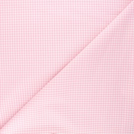 Small checked Vichy fabric - pink x 10cm