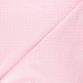 Tissu Vichy petits carreaux rose x 10cm