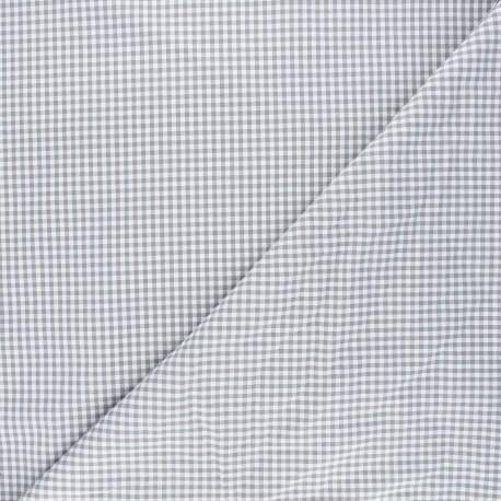 Small checked Vichy fabric - grey x 10cm