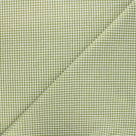 Small checked Vichy fabric - olive x 10cm