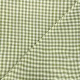 Tissu Vichy petits carreaux olive x 10cm
