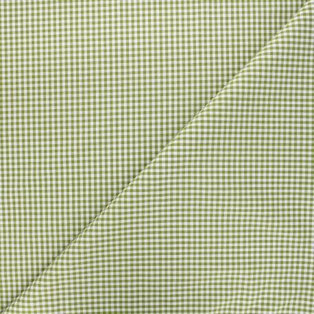 Vichy petits carreaux olive