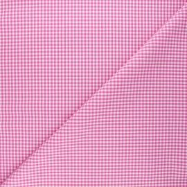 Small checked Vichy fabric - fuchsia x 10cm