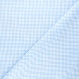 Tissu Vichy petits carreaux ciel x 10cm