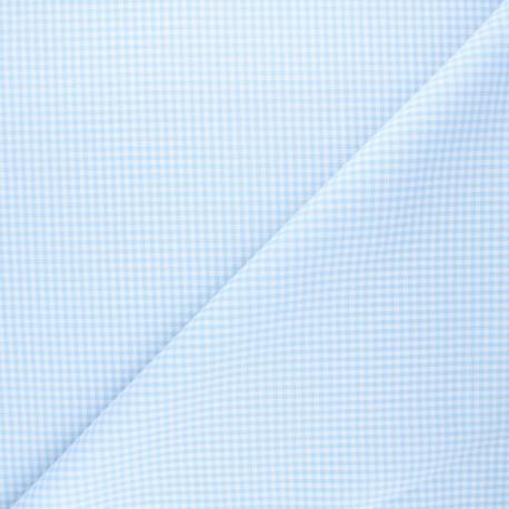 Small checked Vichy fabric - sky x 10cm