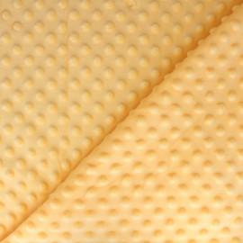 Tissu Velours minkee doux relief à pois - Aurore x 10cm