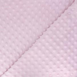 Soft relief minkee velvet fabric - pink dots x 10cm