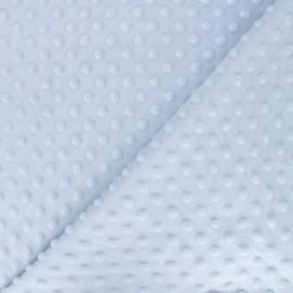 Minkee velvet fabric dot - light blue x 10cm