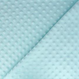 Dotted Minkee velvet fabric - ice blue x 10cm