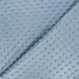 Minkee velvet fabric dot - blue grey x 10cm