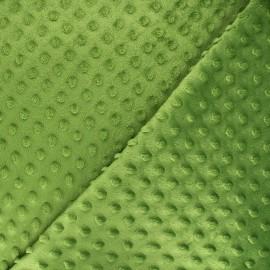 Minkee velvet fabric dot - olive green x 10cm