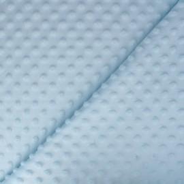 Oeko-tex minkee velvet fabric dot - sky blue x 10cm