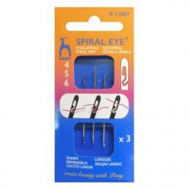 Pony spiral eye sewing needles 4,5,6