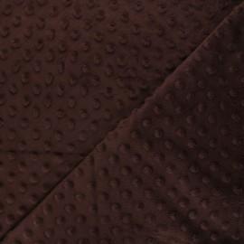 Soft relief minkee velvet Fabric - Brown Dots x 10cm